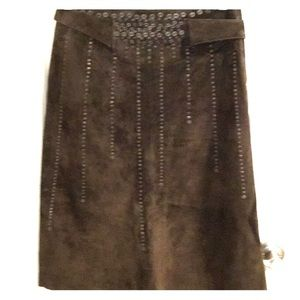 Detailed Suede Skirt from MaxAria Collection